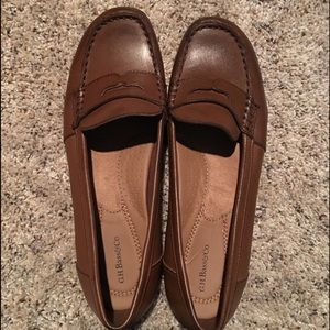 Bass Brown Leather Loafers - Size 9